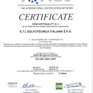 certificate OHSAS 18001 en